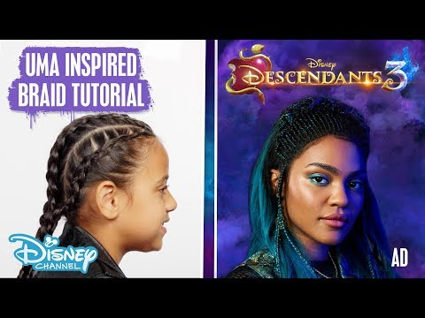 Descendants 3 | Uma Inspired Hair Tutorial Ft. Tianna Leanne 🐚 | Disney Channel UK #AD