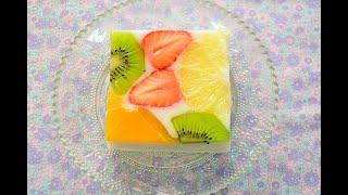 """【スイーツレシピ】萌え断アーモンドミルクゼリー """"MOEDAN"""" Almond milk jelly"""