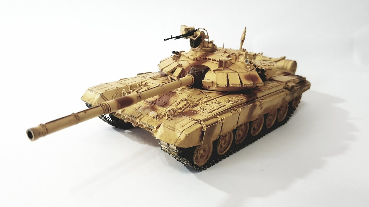 Trumpeter 1/35 T-90S Indian Army (Part 4: Painting and Weathering)