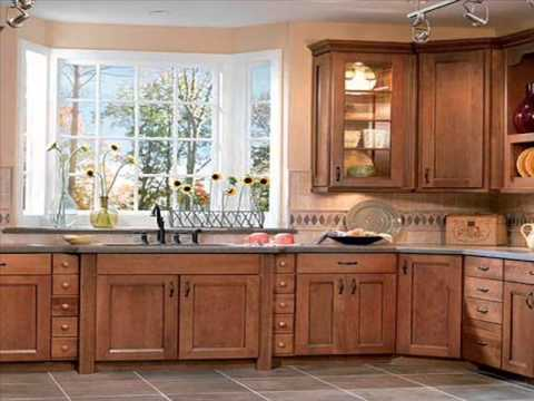 Oak Kitchen Cabinets I Oak Kitchen Cabinets Lowes - YouTube