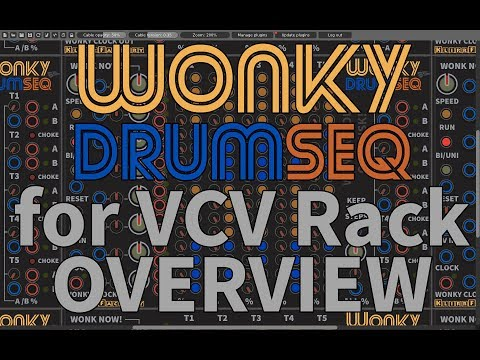 KlirrFactory Wonky DrumSEQ - Organic Drum Sequencer for VCV Rack (Overview)