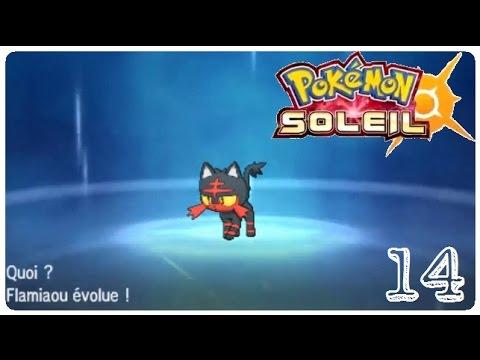 Pokémon Sun And Moon Flamiaou évolu épisode 14 Youtube