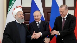 Putin, Rouhani & Erdogan speak to media after Syria talks in Ankara