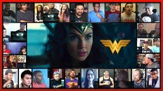 WONDER WOMAN Comic-Con Trailer Reaction's Mashup (30 people)