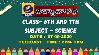 DD SAPTAGIRI-GOVT OF AP-VIDYA VARADHI- 6,7 CLASSES-SCIENCE- 07-09-2020- 2PM