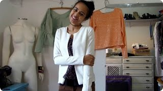 Costurando cardigã  feminino masculino Alana Santos Blogger