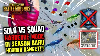 SOLO VS SQUAD DI MODE HARDCORE SEASON 12 HORROR BANGET !!! - PUBG MOBILE INDONESIA