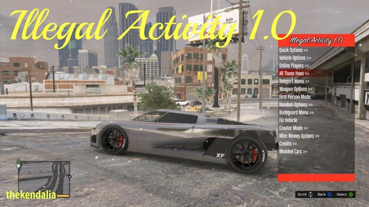 GTA 5 Mod Menu Showcase- Illegal Activity 1.0 + Download (RGH/JTAG ONLY)