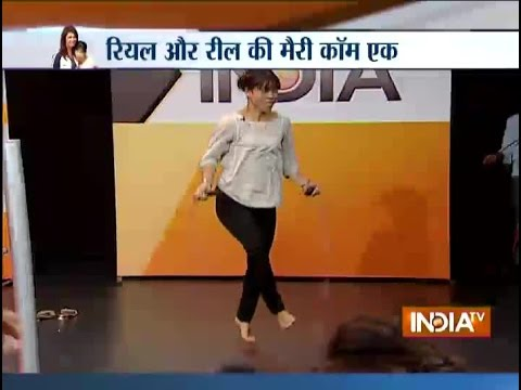 Mary Kom Displays Her Skipping Tactics At India TV studio - India TV