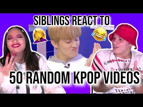 Siblings React To 50 Random Kpop Videos I Watch At 2am | REACTION