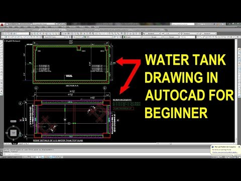 Underground water tank structural drawing - YouTube