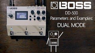 Örnekler ve parametreleri patron DD-500 Dijital Gecikme - Dual Mod -