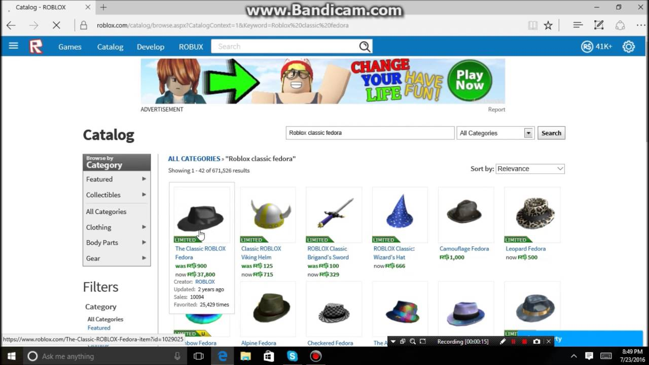 Buying the Classic ROBLOX Fedora - YouTube 88b0fbc3109