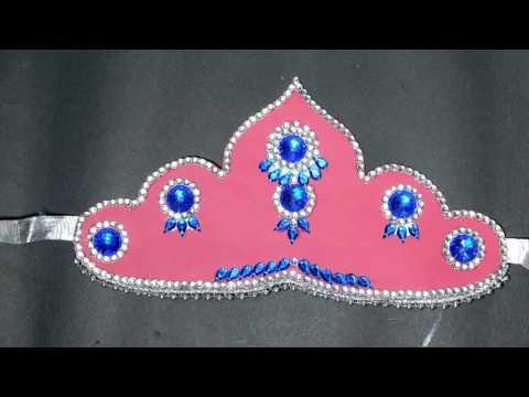 DIY How to make Mukut | God ( crown / tahia in odia ) | kundan mukut