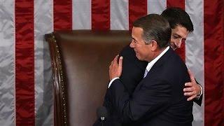 Boehner Honored as Ryan Takes the House Speaker Gavel