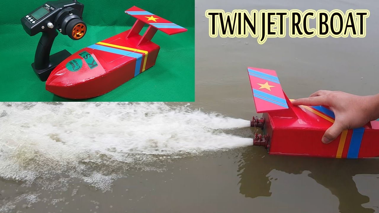 how to make a twin jet rc boat using turbo jet motor [ 1280 x 720 Pixel ]