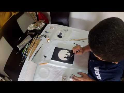 Como Pintar Una Luna Llena En Oleo Facil Y Rapido Youtube