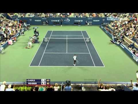 Roger Federer Tweener @ US Open 2010