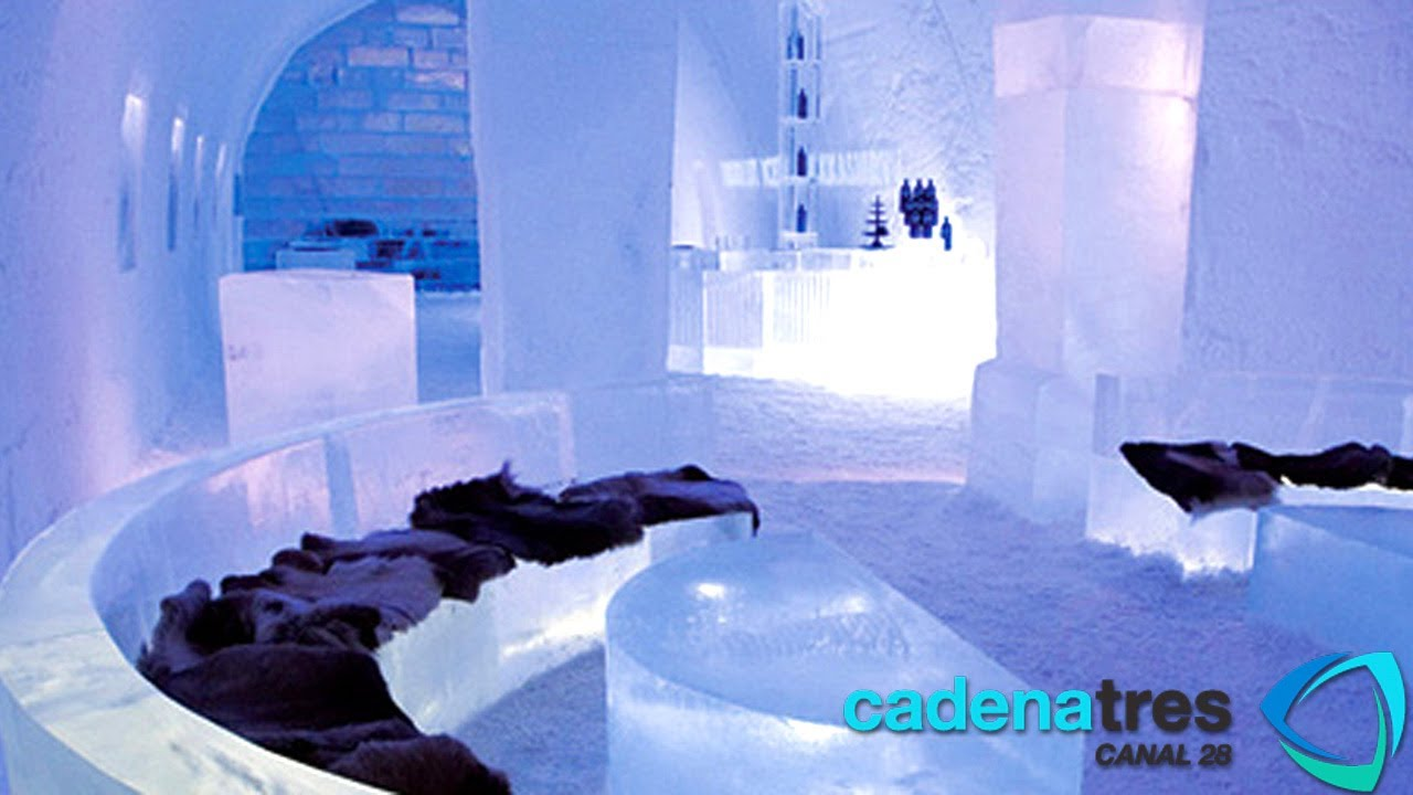 incre ble hotel de hielo en suecia ice hotel jukkasj rvi sweden youtube. Black Bedroom Furniture Sets. Home Design Ideas