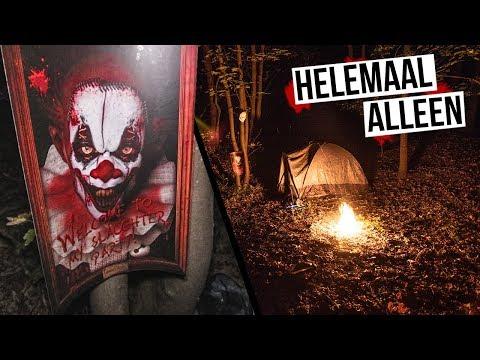ALLEEN GEDROPT in een BOS | Halloween special