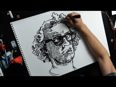 Drawing a SelfPortrait with a Marker ✍