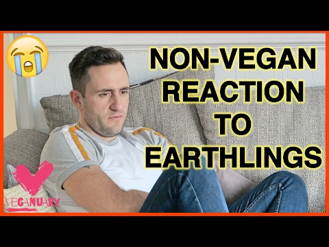 MY NON-VEGAN MATE'S REACTION TO EARTHLINGS! | Veganuary Chal