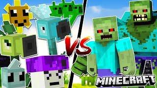 Minecraft PLANTS VS ZOMBIES MOD | Plants vs Zombies in Minecraft!! | Minecraft Mods
