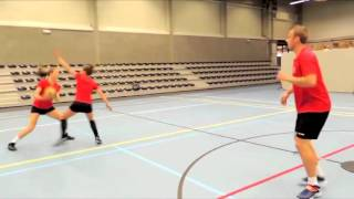 Korfball basics 6 - Passing With Lead Foot