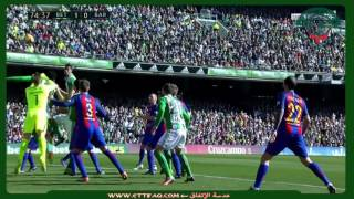 أهداف  مباراة برشلونة  و ريال بيتيس 1-1 - الدوري الإسباني2016/2017