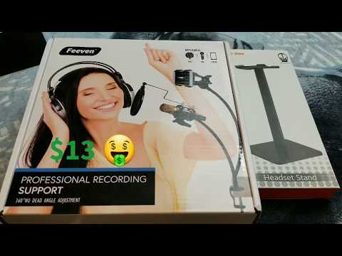 Feeven Professional Recording Support System Unboxing Review by Slick
