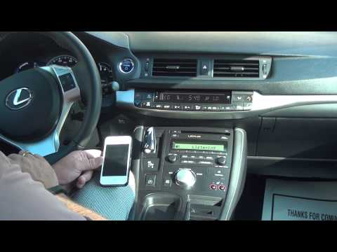 How to Sync Bluetooth without the Navigation System 2011 Lexus 200ct Hybrid