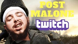 Post Malone First Time Streaming on Twitch - Top Moments