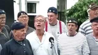 """Shanty koor De Boekaniers met """"Braw Sailing"""" Harderwijk 31 Juli 2013"""
