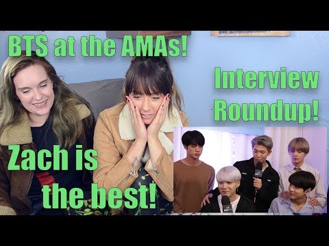 BTS AMAs Interview Roundup!