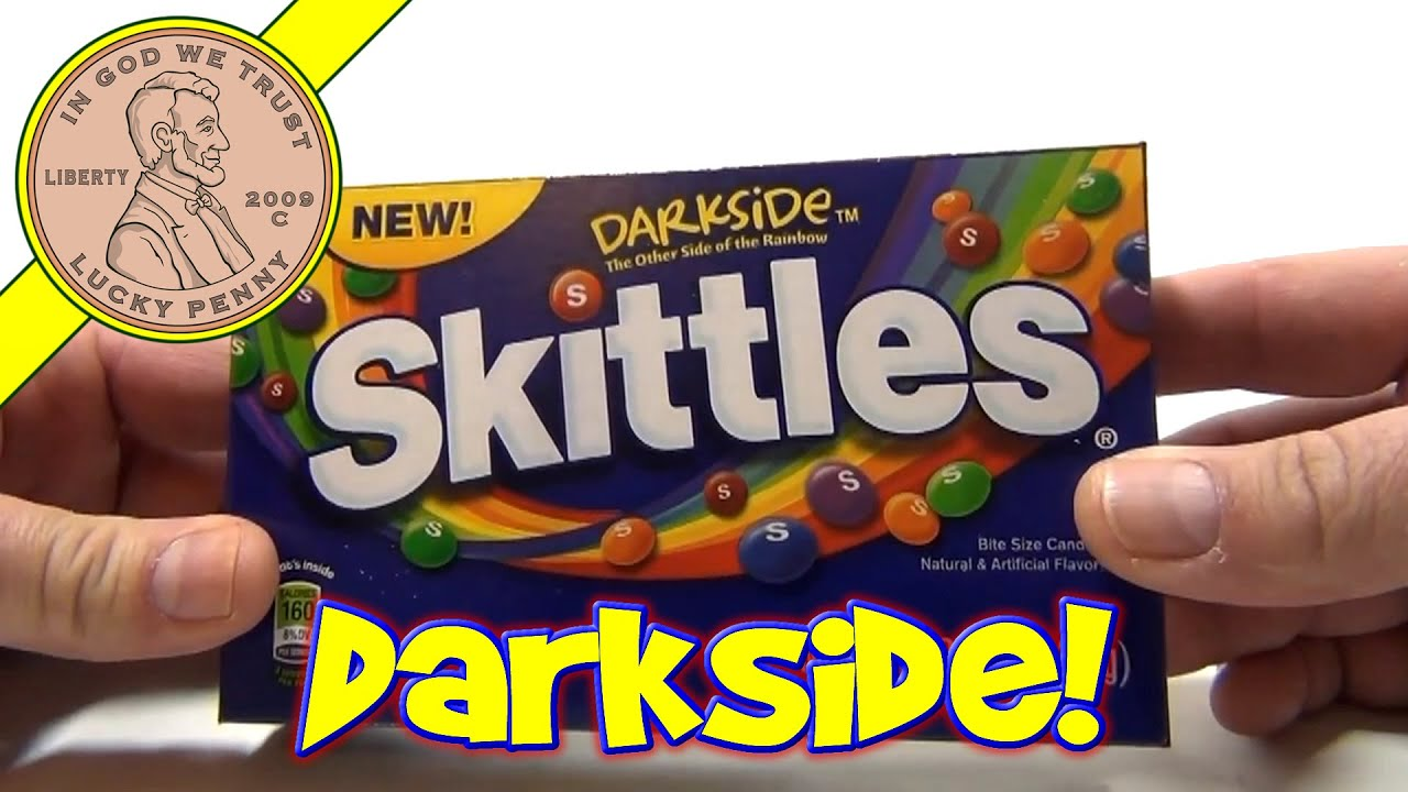 Skittles Darkside Bite Size Candies (USA Candy Tasting) The Other Side Of  The Rainbow!
