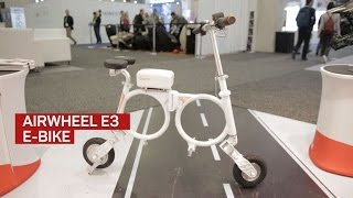 Airwheel E3: An origami e-bike that folds into a backpack