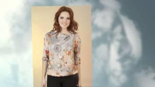 Модные блузки из шелка 2014