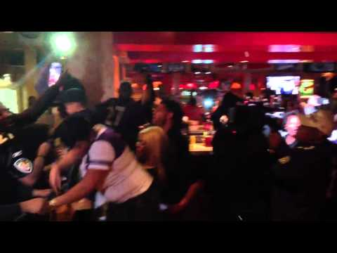 The family of Baltimore Ravens running back and New Rochelle High School graduate Ray Rice celebrate the Ravens' 34-31 win over the San Francisco 49ers in Super Bowl XLVII. The family gathered for a party at the Applebee's in New Rochelle.