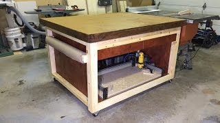 Outfeed / Assembly Table With Cnc Router Storage