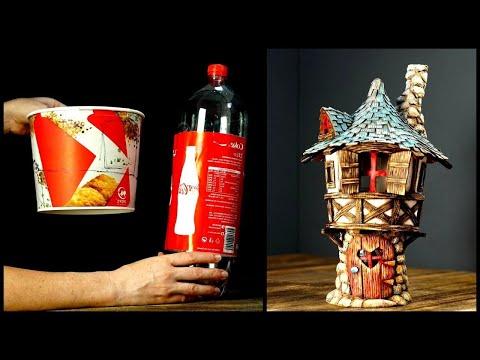 ❣DIY Fairy Tower Using Cardboard and Trash❣