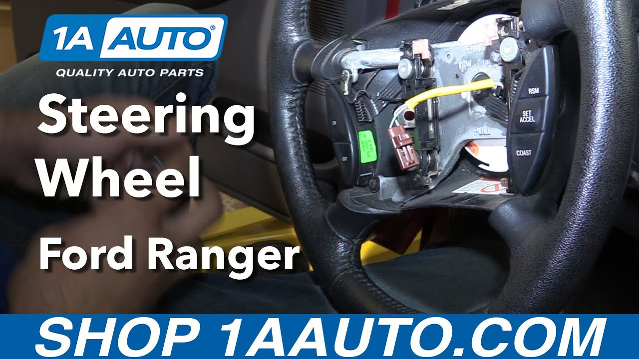 how to replace steering wheel 98-12 ford ranger