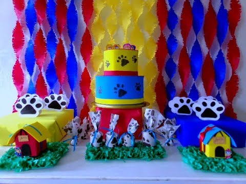 DIY- Ideias de decoração. Festa Patrulha Canina, ideias fáceis e baratas.