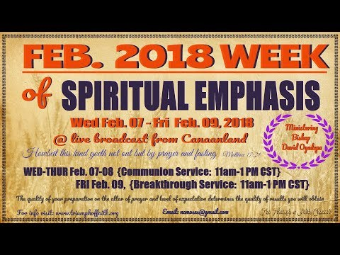 February 2018 Week of Spiritual Emphasis Day 2,  February 8, 2018