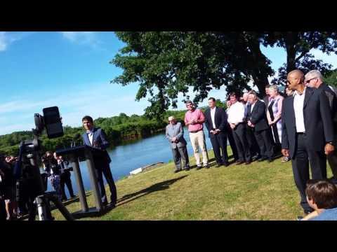 Justin Trudeau in Bridgetown, Nova Scotia 08-16-2016