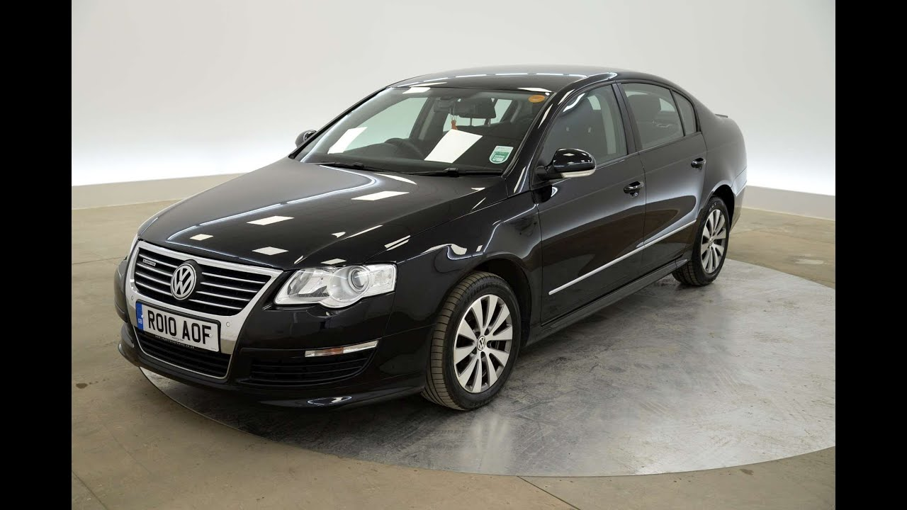 2010 volkswagen passat bluemotion 1 6tdi saloon black for sale in hampshire youtube. Black Bedroom Furniture Sets. Home Design Ideas