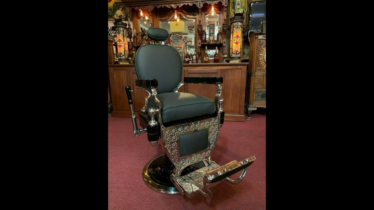 1920 S Theo A Koch Fully Red Barber Chair For 7 250