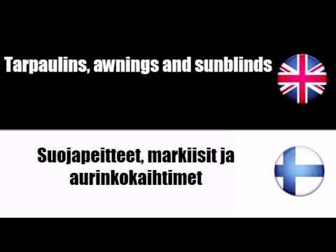 English-Finnish - Soft Furnishings
