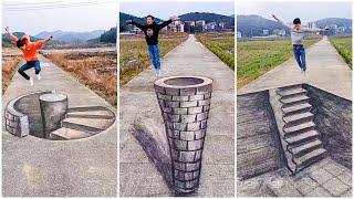 Đỉnh Cao Nghệ Thuật Vẽ Tranh 3D Đường Phố Trung Quốc P5 ✍️✍️ | Tik Tok China