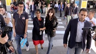 Charlotte Gainsbourg arriving at Nice airport for the 2019 Cannes Film Festival