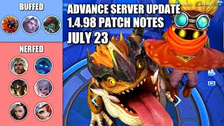 NEWEST 1.4.98 PATCH NOTE FOR THIS WEEK!